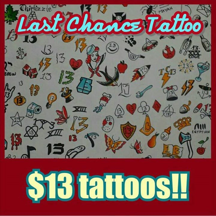 13 Tattoos And 20 Dollar Piercings On Friday The 13Th At Ideas And Designs