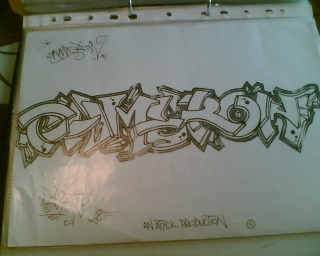 Cameron By Atik Rgt Tattoo Design Photo Copy Of A Ideas And Designs