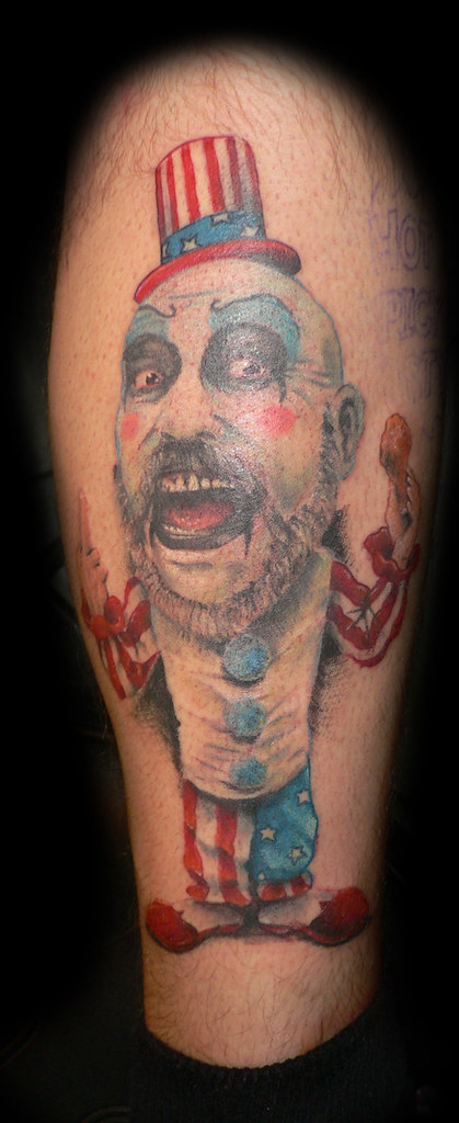 Captain Spaulding Tattoo Captain Sapulding Bobble Head Ideas And Designs