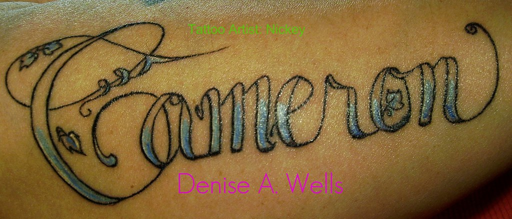 Cameron Tattoo Design By Denise A Wells Went To Ideas And Designs