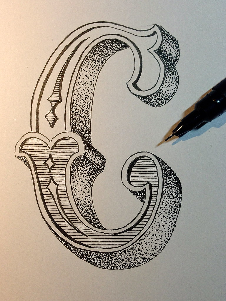 Sketch Letter C For Cr*P Cr*P That Was A Lots Of Dots Ideas And Designs