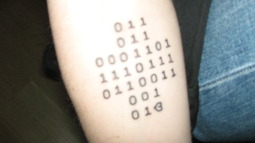 Binary Tattoo Who Will Be The First To Decode It Sean Ideas And Designs