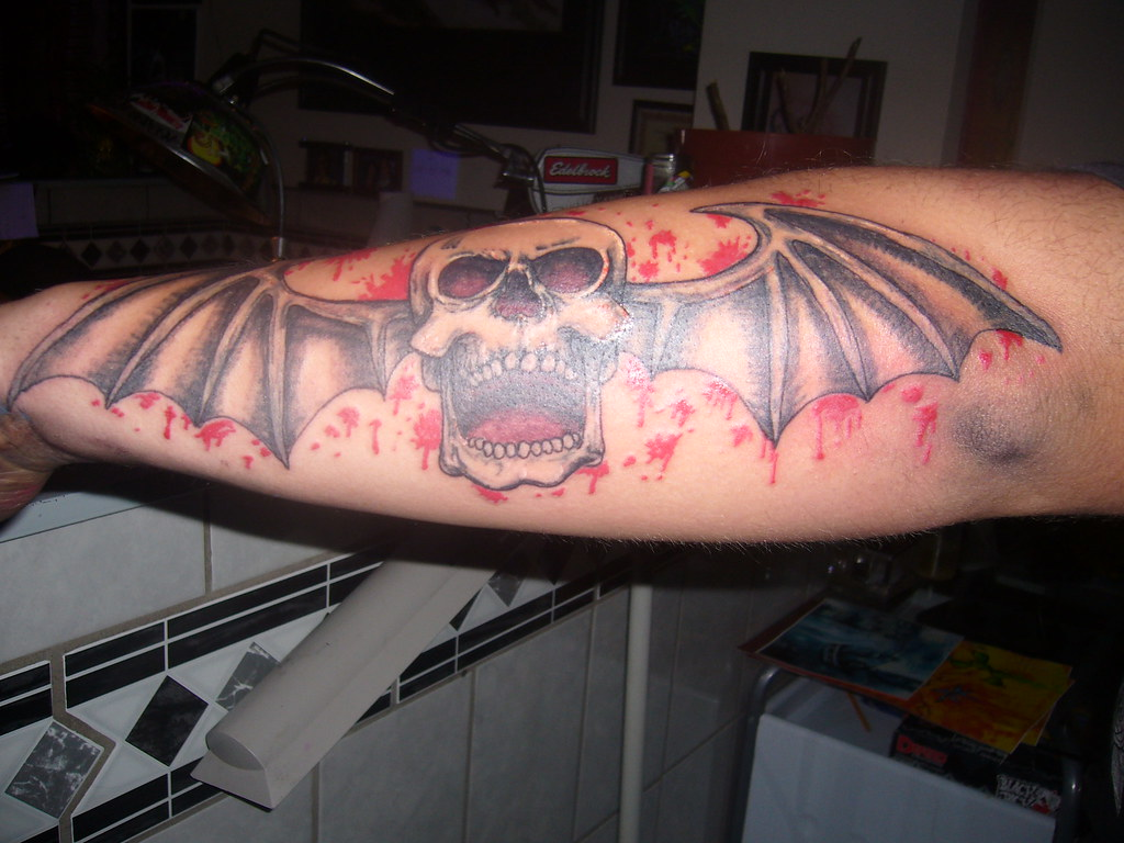 A7X Tattoo Avenged Sevenfold Tattoo For A Devoted Fan Ideas And Designs