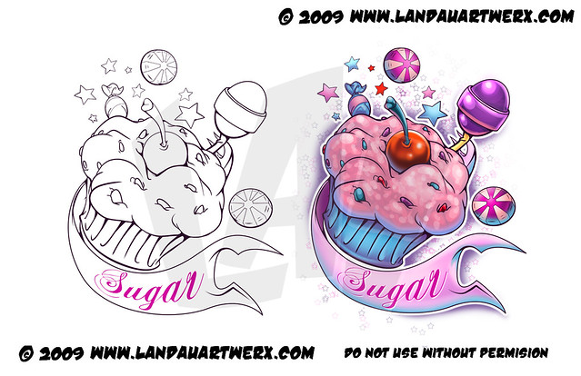 Sugar Cake Tattoo Landon Armstrong Flickr Ideas And Designs