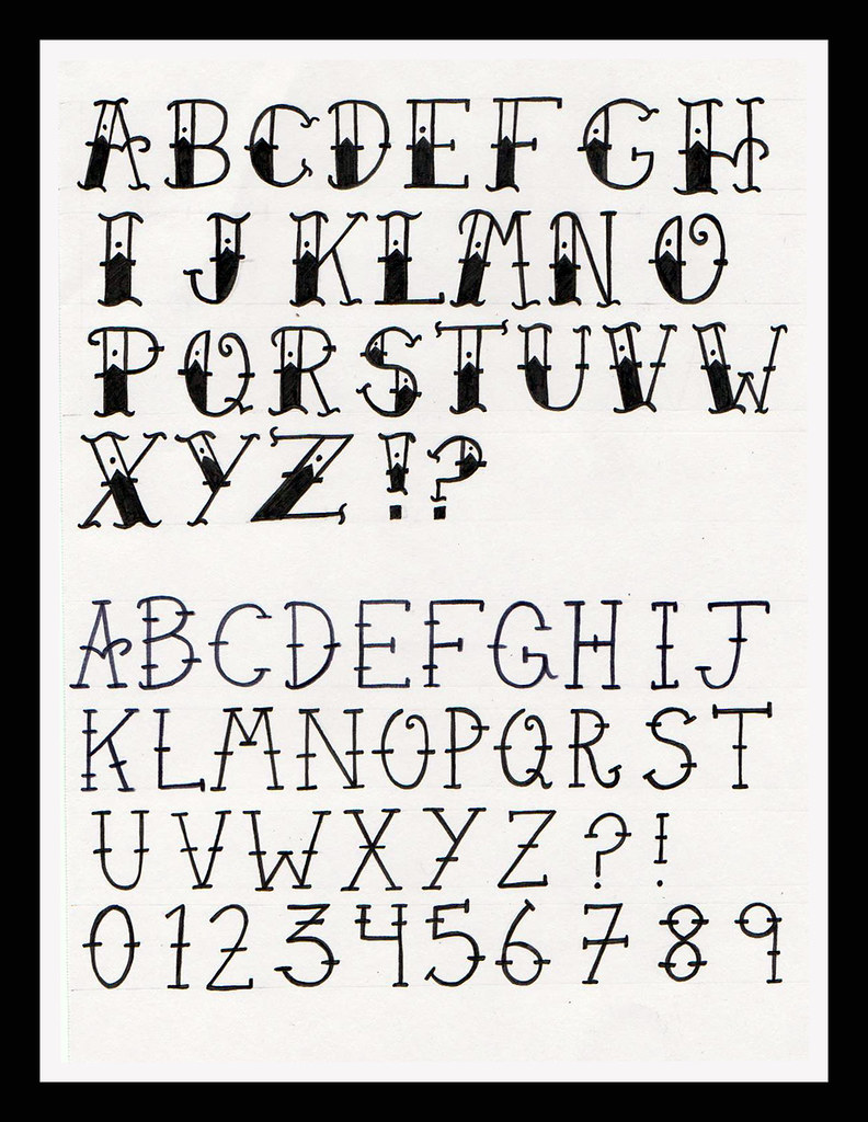 Old School Tattoo Alphabet As Someone Who Is Interested Ideas And Designs