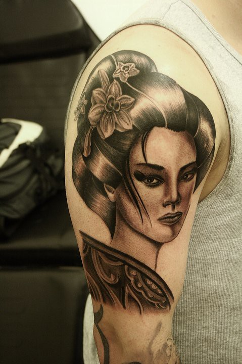 Design Done By Alina Inkognito Tattoo Gheisa Black And Gre Ideas And Designs