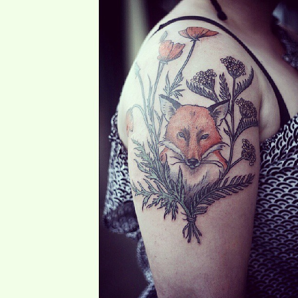 Alicecarrier Fox With Wreath Of Yarrow And California Pop Ideas And Designs
