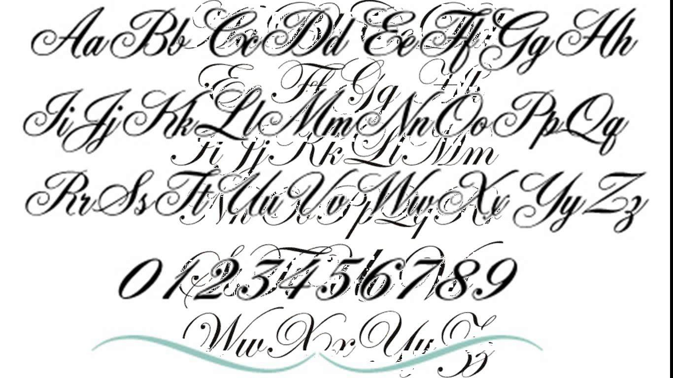 Fancy Letter Fonts Tattoo Scrip Alphabet Font Style Ideas And Designs
