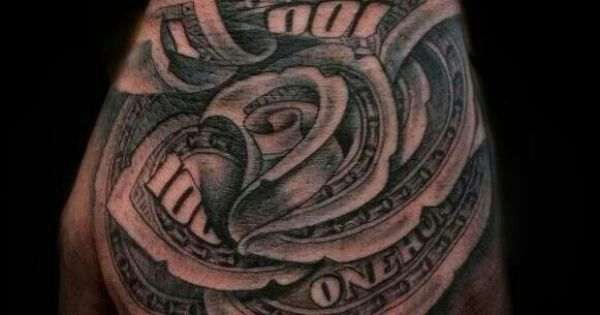 100 Dollar Bill Rose Rose Tattoos Pinterest Tattoo Ideas And Designs