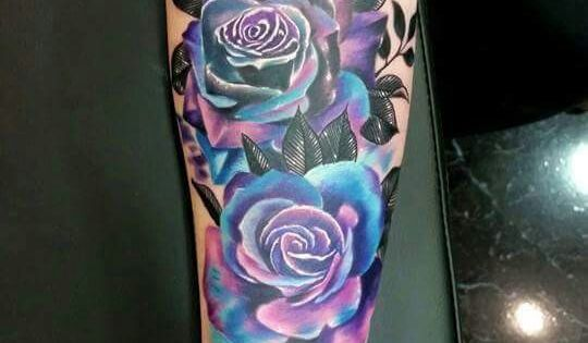 Can We Talk About This Multi Colored Rose Tattoo Ideas And Designs