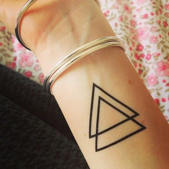 Triangle Tattoo I Just Want One Not Two In Math The Ideas And Designs