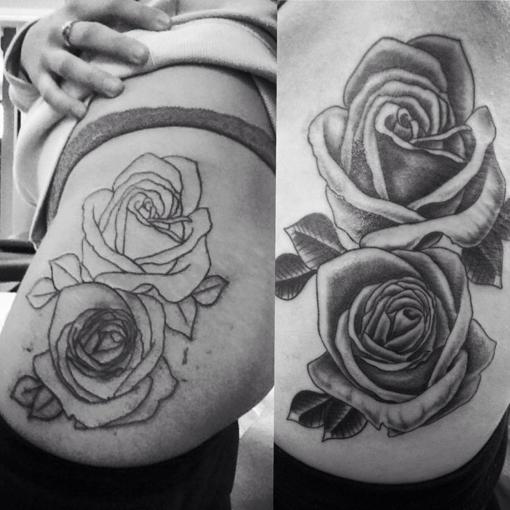 My First Big Piece Rose Tattoo On Hip Thigh About 2 Ideas And Designs