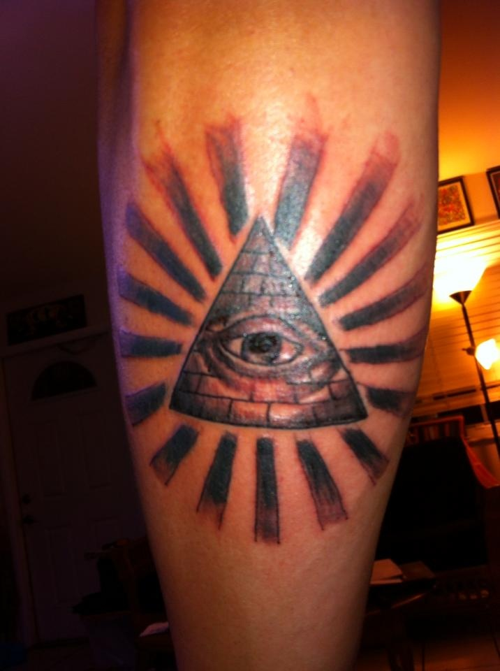 Third Eye Pyramid Rays Celestial Black And Grey Custom Ideas And Designs