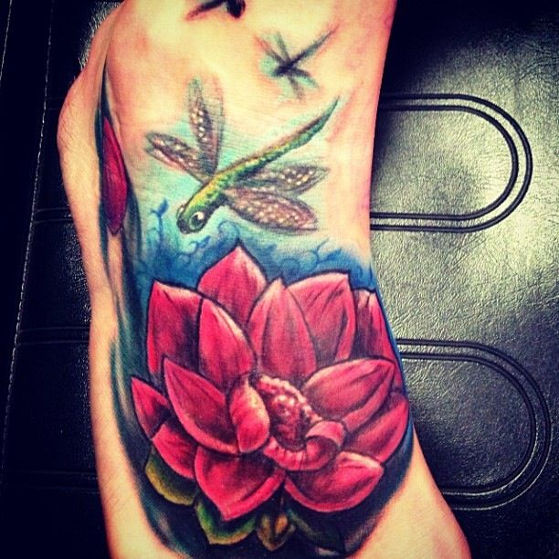 Foot Flower Tattoo Cover Up By Big Gus Amazing Artist Ideas And Designs