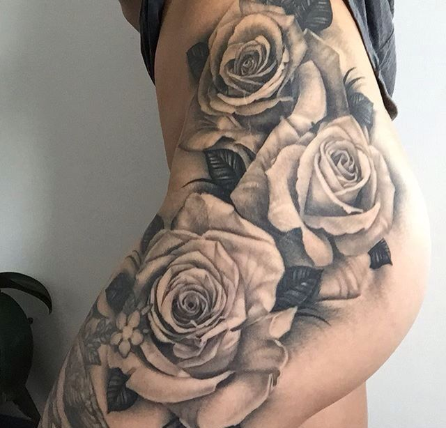 25 Best Ideas About Rose Tattoo Thigh On Pinterest Hip Ideas And Designs