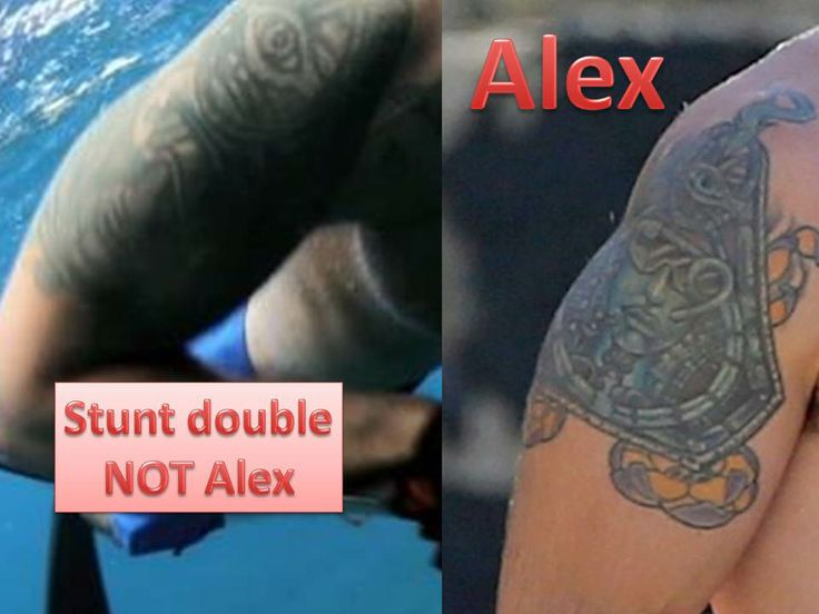 Comparison With Stunt Double Tattoo Vs Alex S Real Tattoo Ideas And Designs