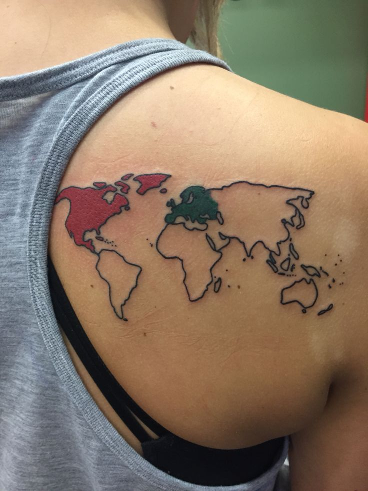 25 Best Ideas About World Map Tattoos On Pinterest Ideas And Designs