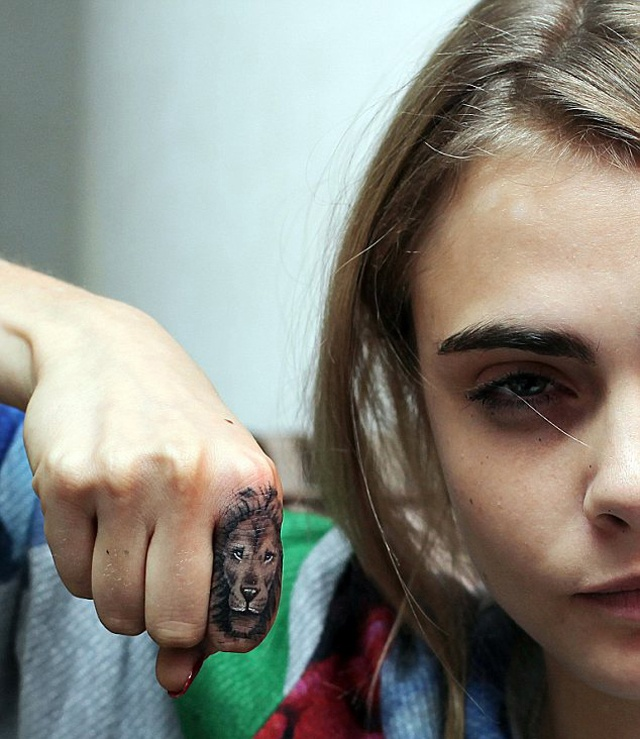 Cara Delevingne S Lion Head Tattoo That Makes Her Even Ideas And Designs