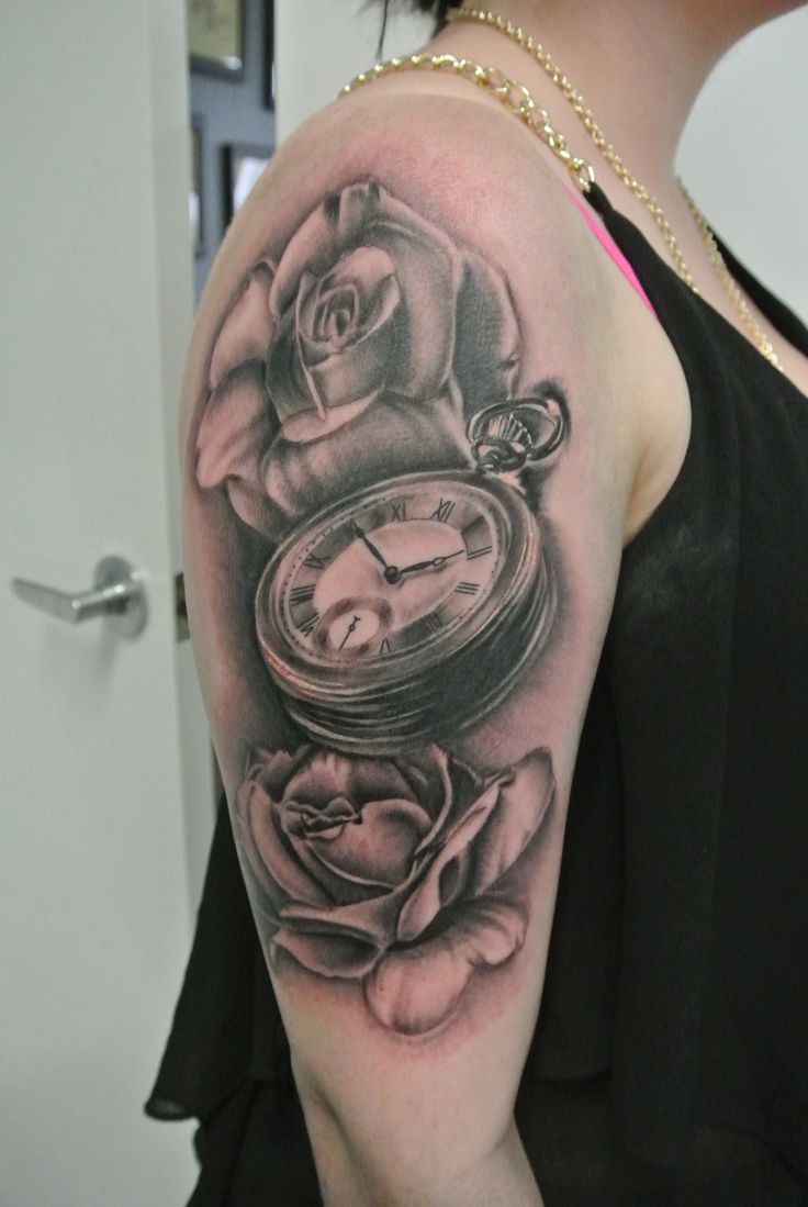 36 Best Images About Roses Timepiece Tattos On Pinterest Ideas And Designs