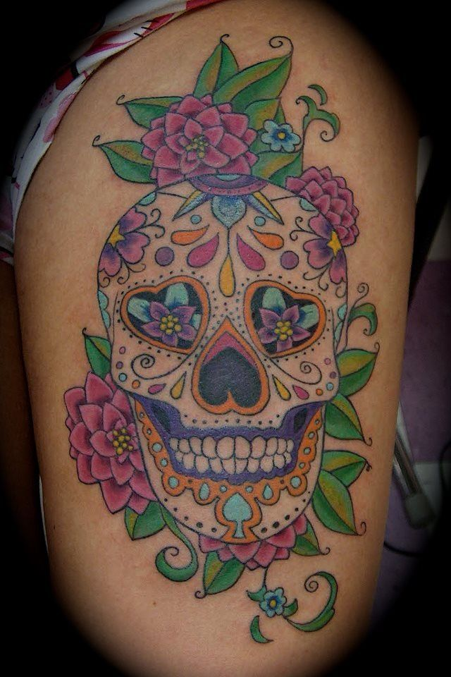 Sugar Skull Tattoo Tumblr Tattoos Pinterest Sugar Ideas And Designs