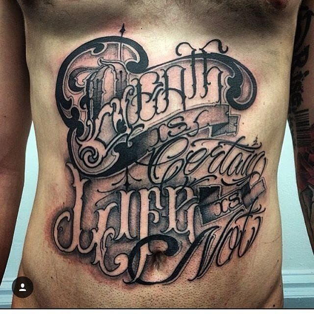 Lettering Tattoo By Big Meas Lettering Script Ideas And Designs