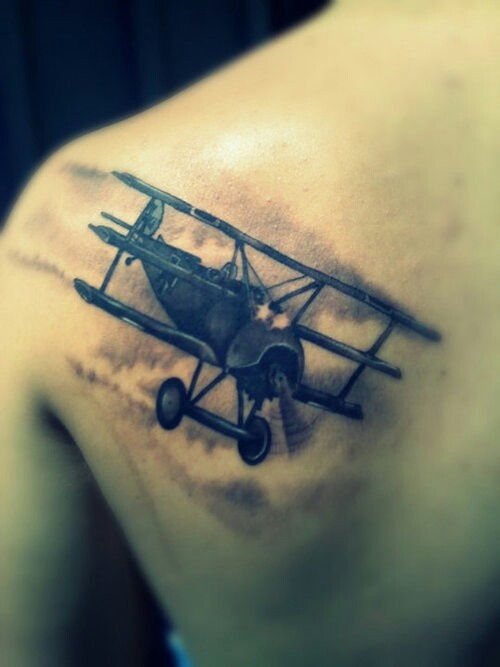 Old Fashion Airplane Tattoo Want Pinterest Fashion Ideas And Designs