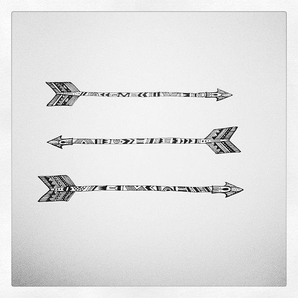 Tribal Arrow Art Via Evadesignstudio Tatted Pinterest Ideas And Designs