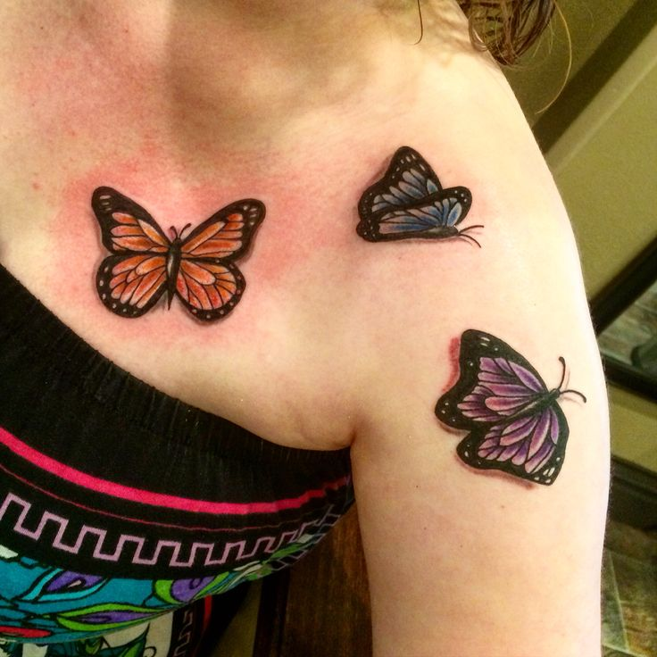 Color 3D Butterflies Tattooed By Bob Bob Price Tattoo Ideas And Designs