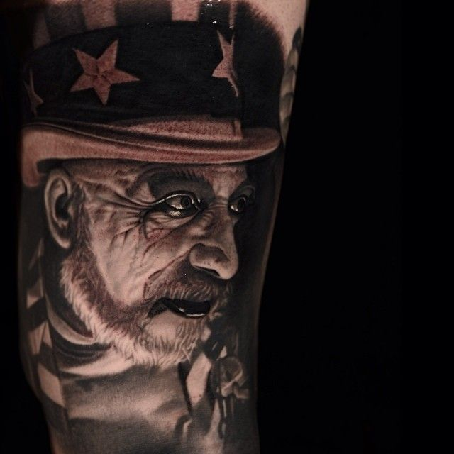 Devil S Rejects Tattoos Captain Spaulding From The Ideas And Designs