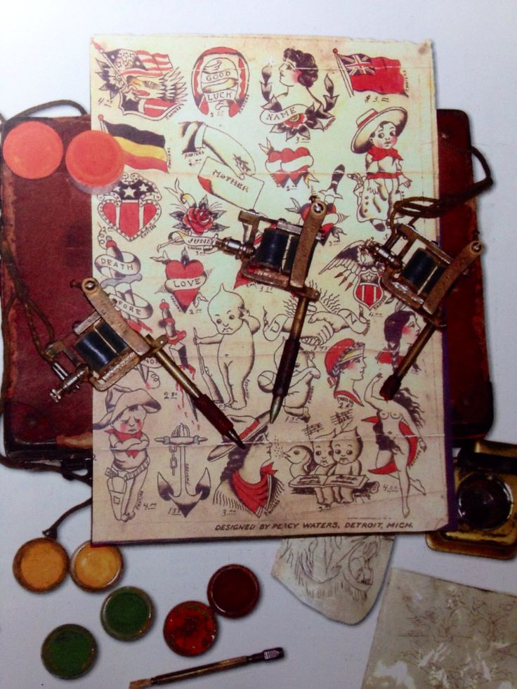 Percy Waters Tattoo Kit From The 1930 S Traditional Ideas And Designs
