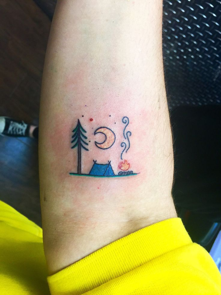 25 Best Ideas About Camping Tattoo On Pinterest Simple Ideas And Designs