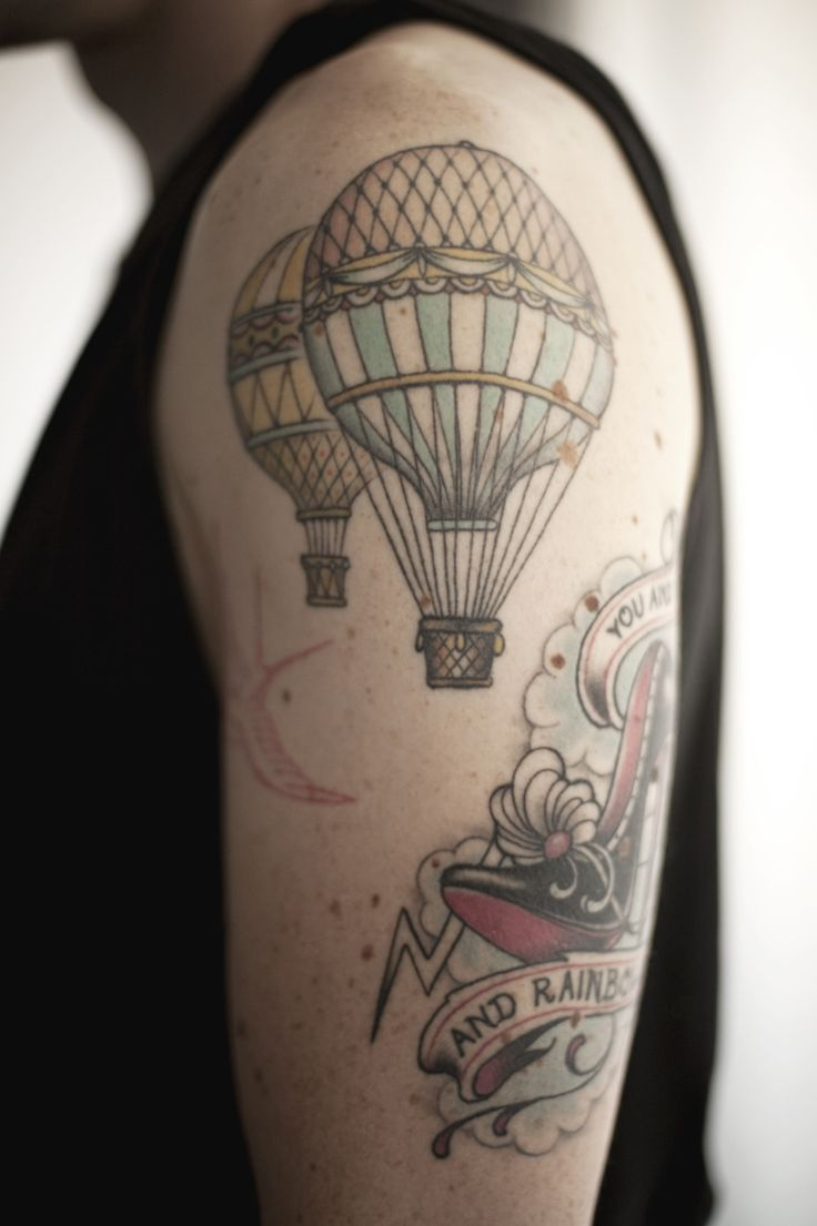 444 Best Images About Hot Air Balloon Tattoo On Pinterest Ideas And Designs