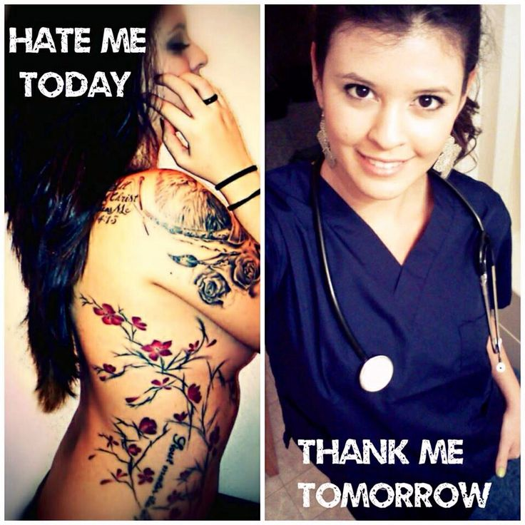 H*T* Me Today Thank Me Tomorrow Nurse With Tattoo Ink Ideas And Designs