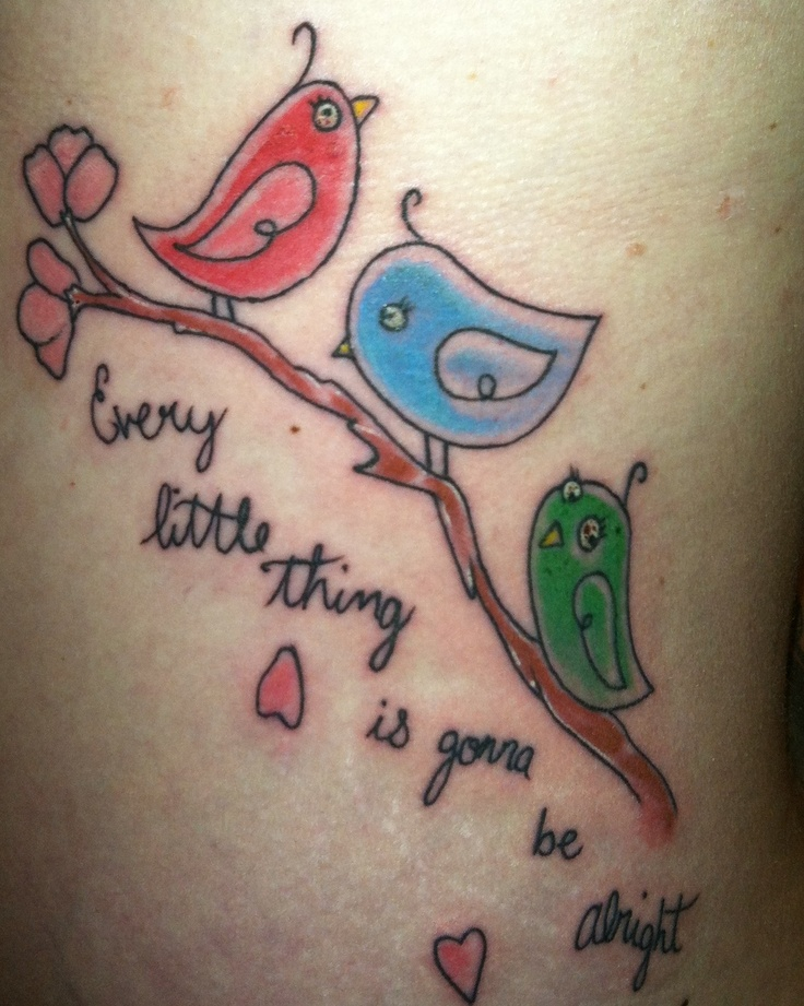3 Little Birds Tattoo Inspired By The Bob Marley Song Ideas And Designs