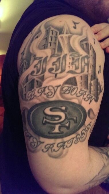 84 Best Images About 49Er Tattoos On Pinterest Fan Tattoo Bay Area And Football Season Ideas And Designs