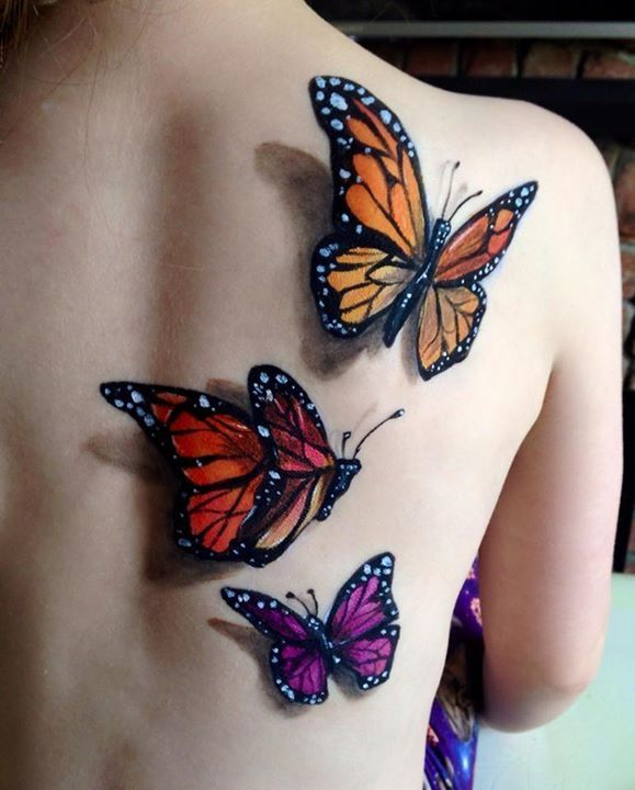 68 Best Images About 3D Butterfly Tattoo On Pinterest Ideas And Designs