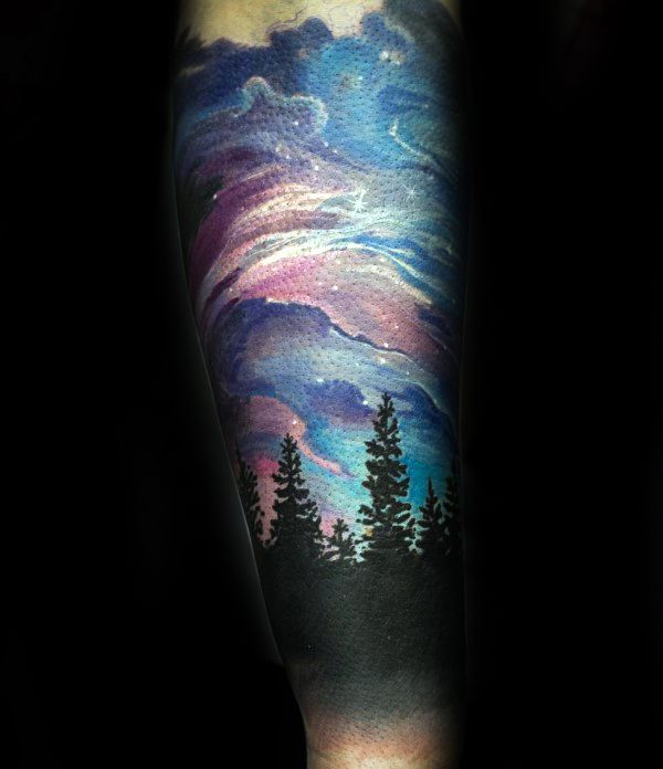 Best 25 Northern Lights Tattoo Ideas On Pinterest Ideas And Designs
