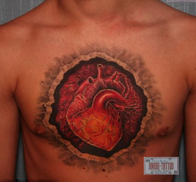 44 Best Images About Best 3D Heart Tattoos In The World On Ideas And Designs