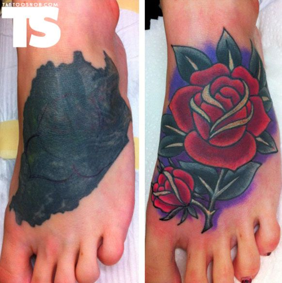 Rose Cover Up Tattoo By Tim Beck Tattoosnob The High Ideas And Designs