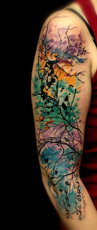 Cleanfun Abstract Tattoo Watercolor Abstract Pinterest Ideas And Designs