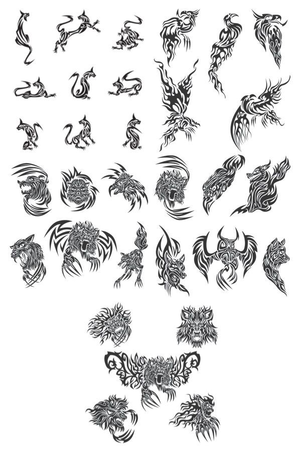 25 Best Ideas About Tribal Animal Tattoos On Pinterest Ideas And Designs