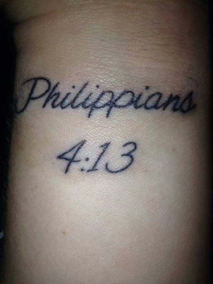 Bible Verse Wrist Tattoo I Can Do All Things Through Ideas And Designs