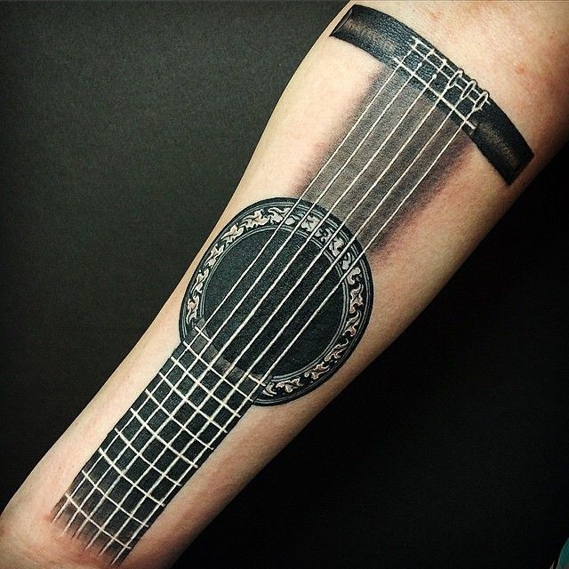 25 Best Ideas About Guitar Tattoo On Pinterest Small Ideas And Designs