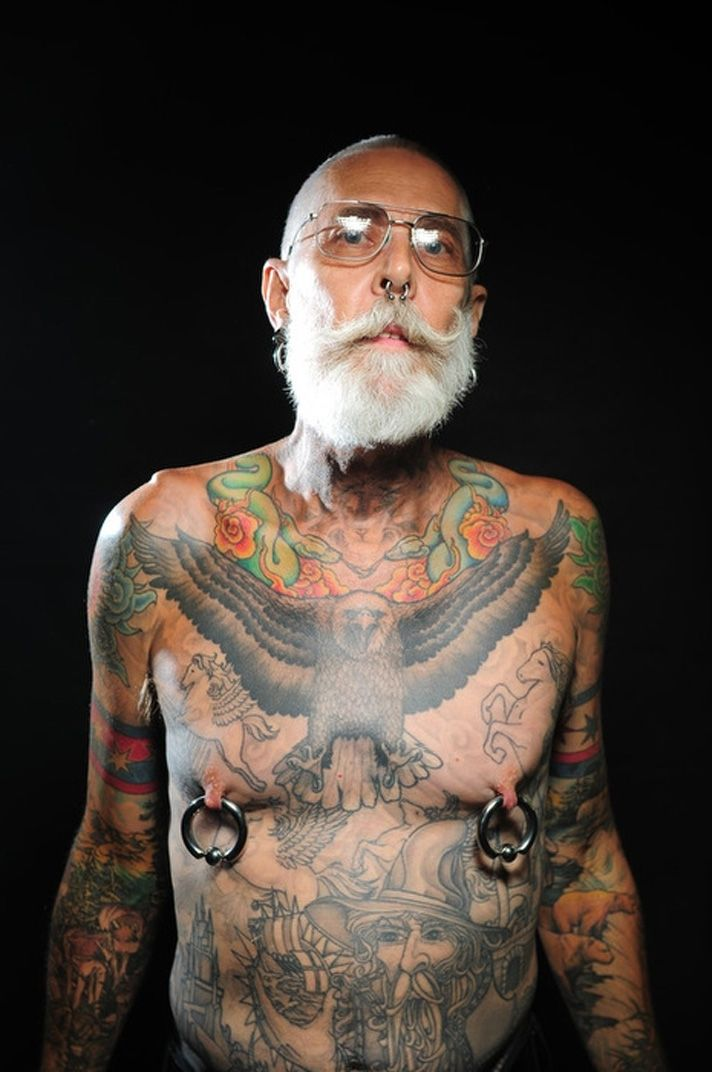 Cool Full Body Tattoos Cool Old Guy Body Art Ideas And Designs