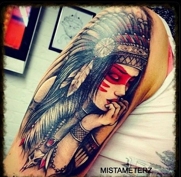 Female Indian With Head Dress Tattoos Piercings Ideas And Designs