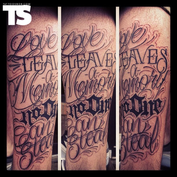 Tattoo By Justin Big Meas Wilson Letters Tattoo Ideas And Designs