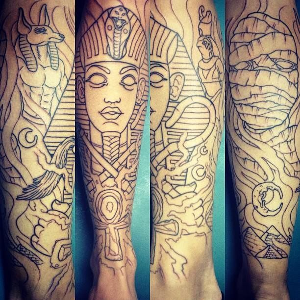 17 Best Ideas About Egyptian Tattoo Sleeve On Pinterest Ideas And Designs