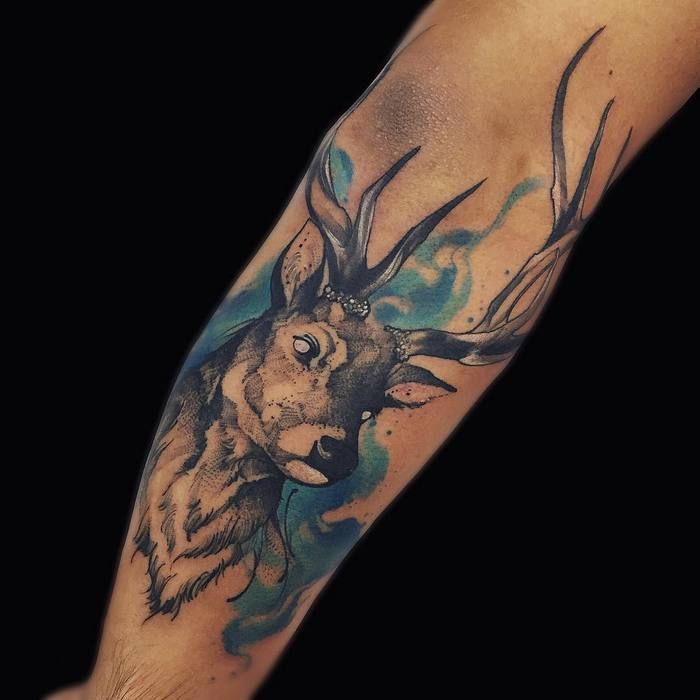25 Best Ideas About Deer Tattoo On Pinterest Larry Ideas And Designs