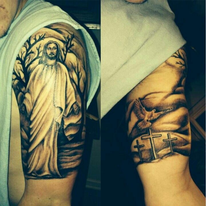 Jesus Dove Calvary Tattoo Tattoos Pinterest Jesus Ideas And Designs