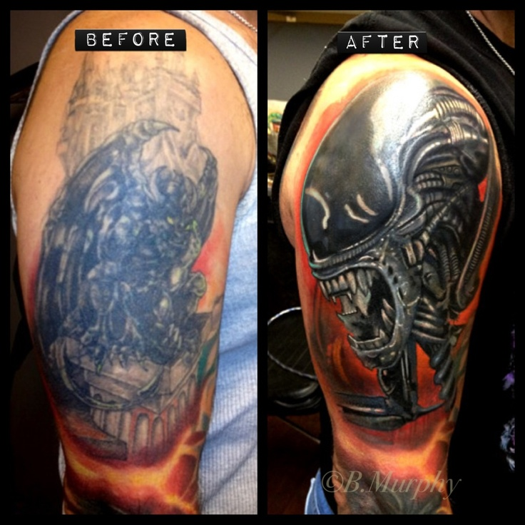 Cover Up Over Large Dark Tattoo Third Dimension Tattoos Ideas And Designs